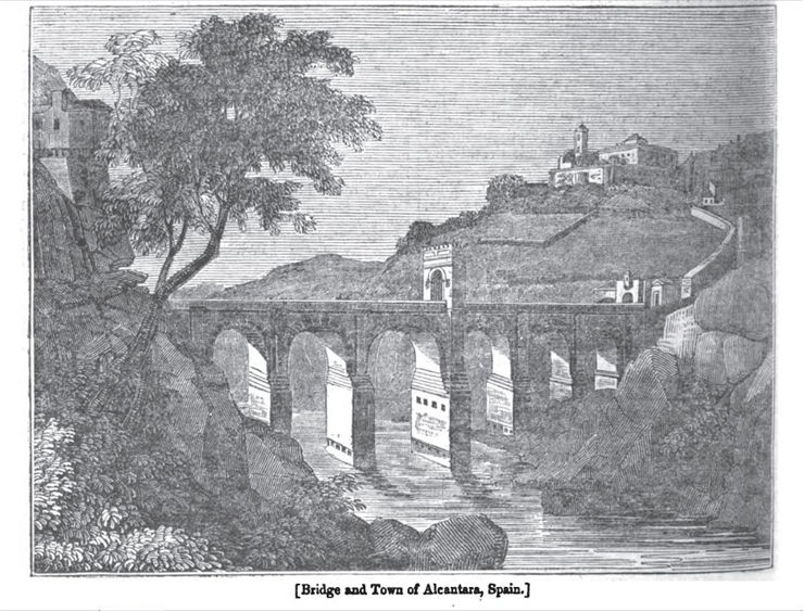 Alcantara Bridge  In The Penny Magazine 1935
