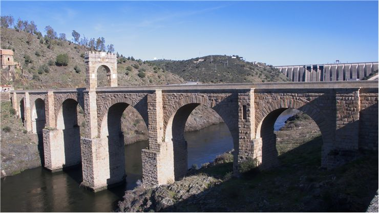 Alcantara Bridge Or Puente Trajan At Alcantara