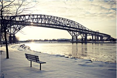 Picture Of Bluewater Bridge In Sarnia Ontario