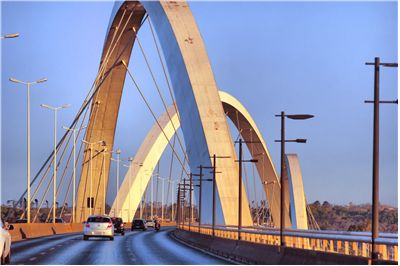 Picture Of Brasilia Bridge In Brasil