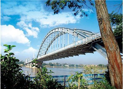 Picture Of Bridge In Ahvaz On The Karoon River