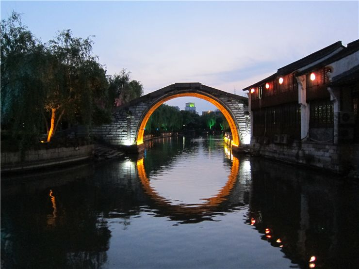 Picture Of Bridge In Jiaxing China