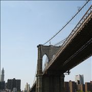 Picture Of Brooklyn Bridge From A Ferry
