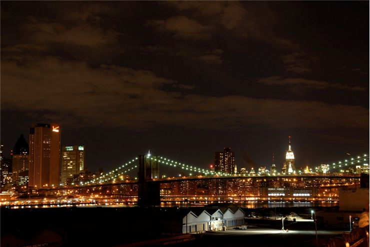 Picture Of Brooklyn Bridge Night