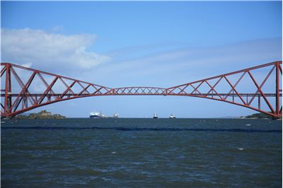 Picture Of Cantilever Rail Bridge Over The Forth River Estuary