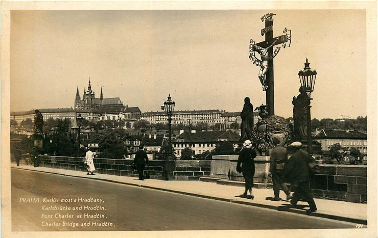 Charles Bridge And The Castle