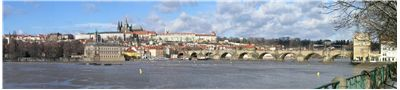 Picture Of Charles Bridge On A Stormy Day