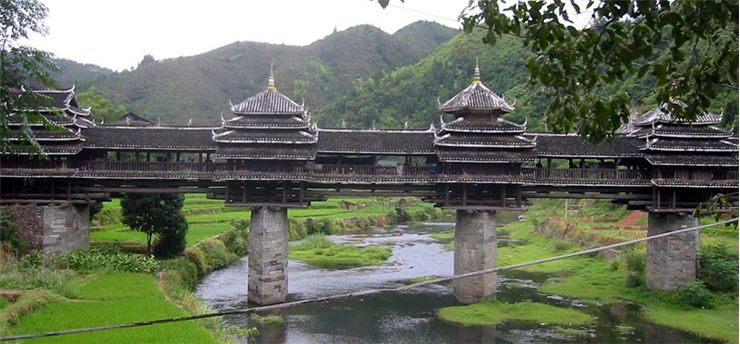 Chengyang Bridge Wind Rain Bridge
