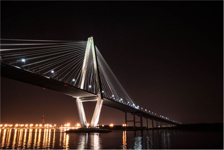 Picture Of Cooper River Bridge In Charleston