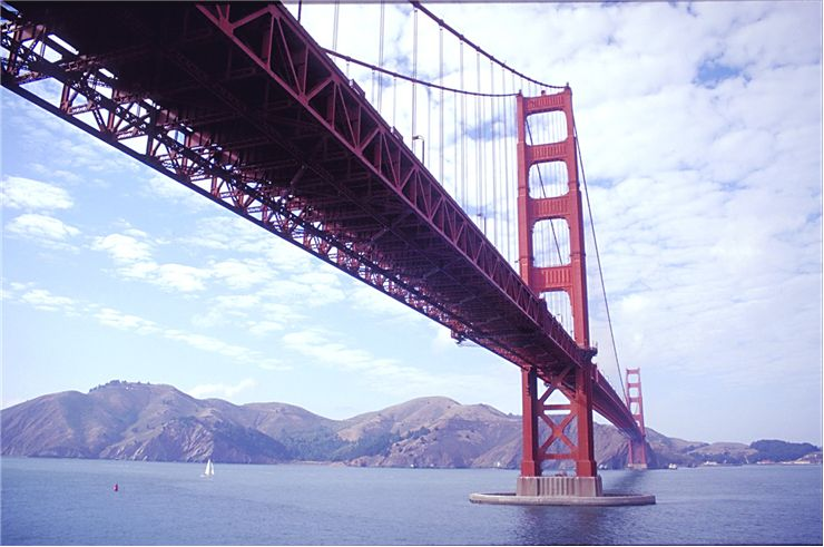 Picture Of Golden Gate Bridge And Ocean