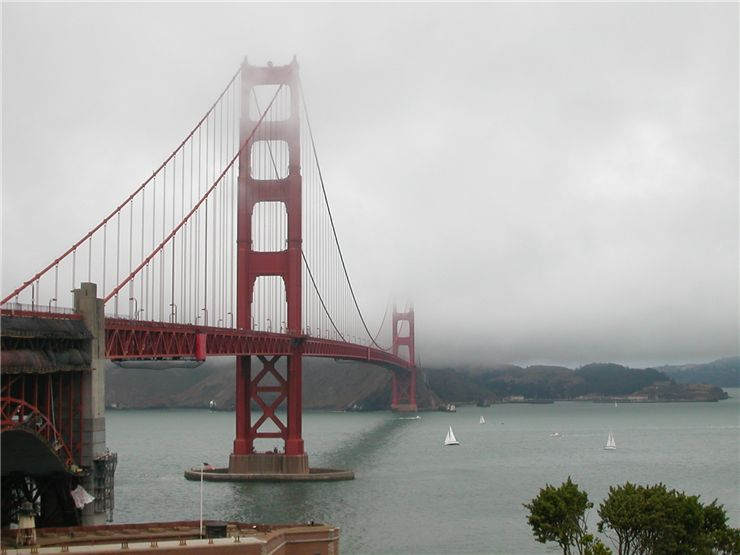 Picture Of Golden Gate Bridge Cloud Day