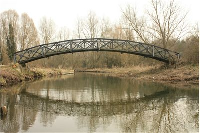 Picture Of Old Arched Bridge Over River