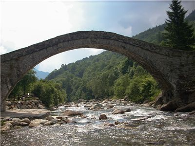 Picture Of Old Romanesque Bridge