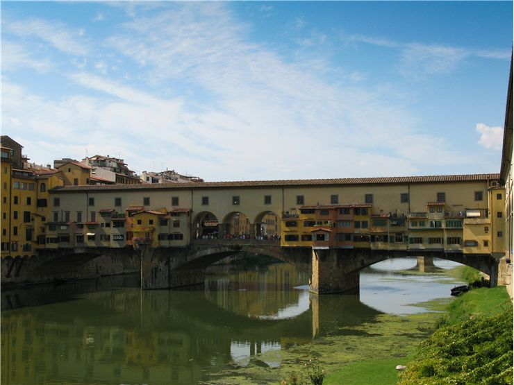 Picture Of Ponte Vecchio And Florence Buildings
