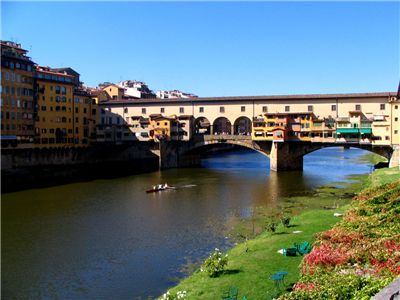 Picture Of Ponte Vecchio Over The Arno River