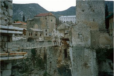 Stari Most As Temporary Cable Bridge