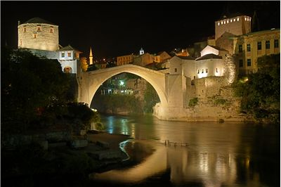 Stari Most At Night