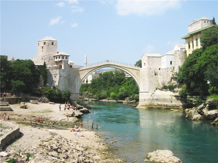 Stari Most Or Old Bridge In Mostar