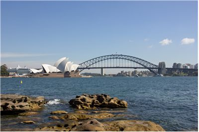 Picture Of Sydney Harbour Bridge And Buildings