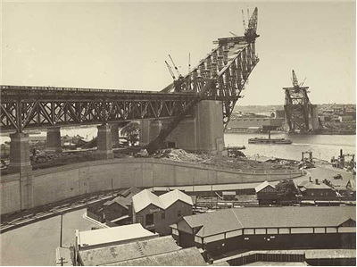 Sydney Harbour Bridge Early Construction