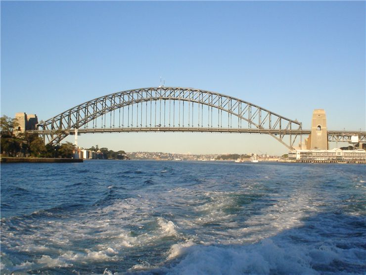 Picture Of Sydney Harbour Bridge From Ferry