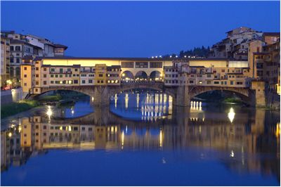 Picture Of The Italian Old Bridge Ponte Vecchio In Florence