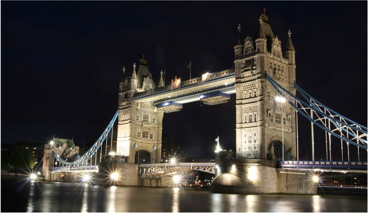 Picture Of Tower Bridge At Night
