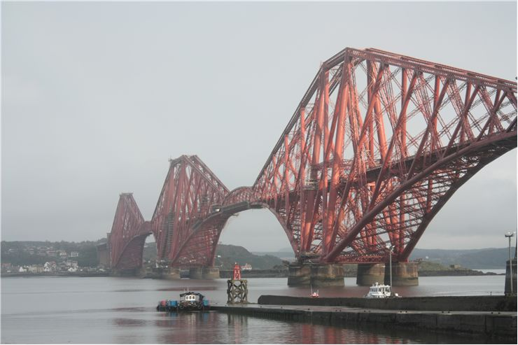 Picture Of View Of The Forth Rail Bridge In Scotland Edinburgh