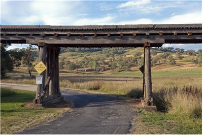 Picture Of Wooden Railway Bridge Near Mudgee Australia